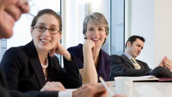 Business women part of the team